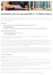 Virtualization with Xen and openQRM 5.1 on Debian Wheezy