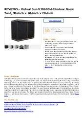 Virtual Sun VS9600-48 Indoor Grow Tent 96-Inch x 48-Inch x 78-Inch