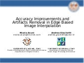 iNEDI - Accuracy Improvements and Artifacts Removal in Edge Based Image Interpolation