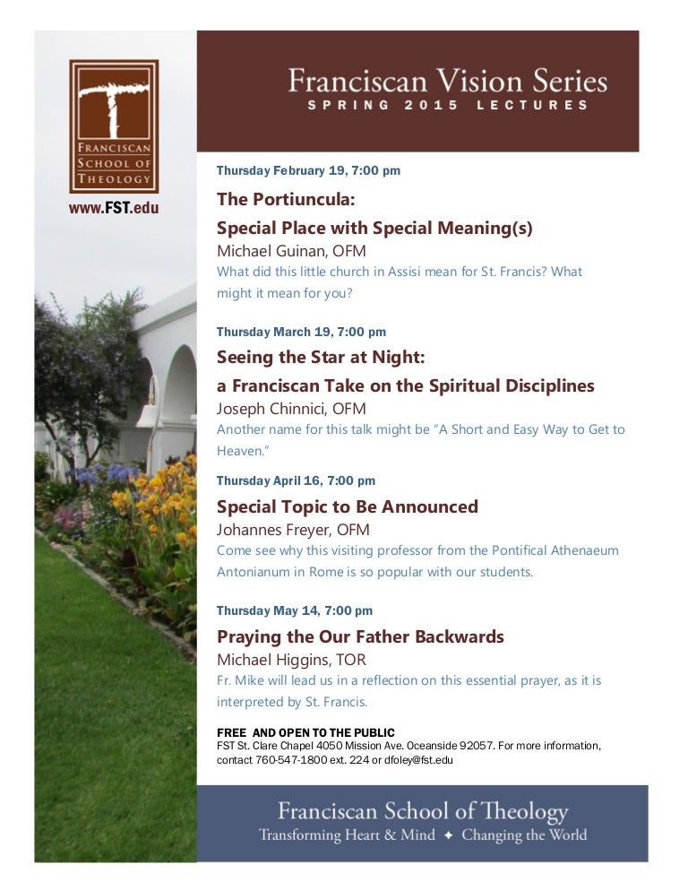 Franciscan School of Theology Vision Series 2015
