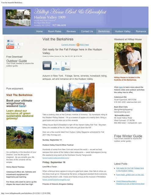 Visit the Berkshires Blog Page
