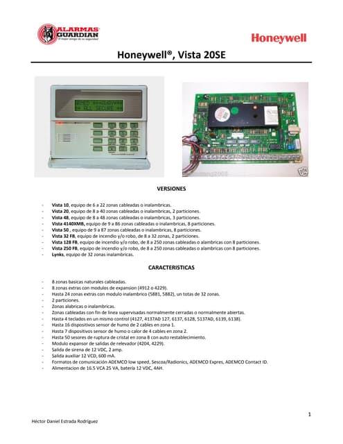 Honeywell vista-50p-programming-guide
