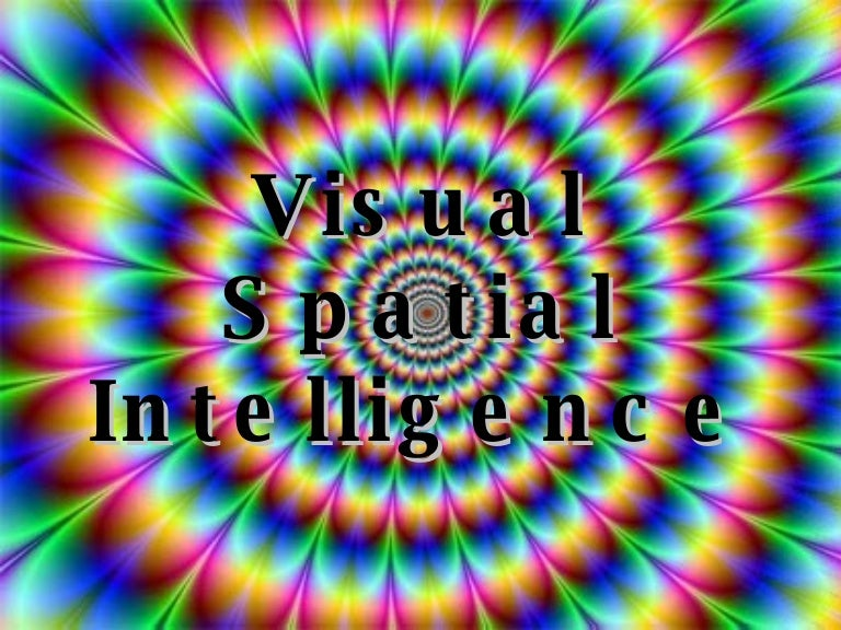 Visual intelligence definition