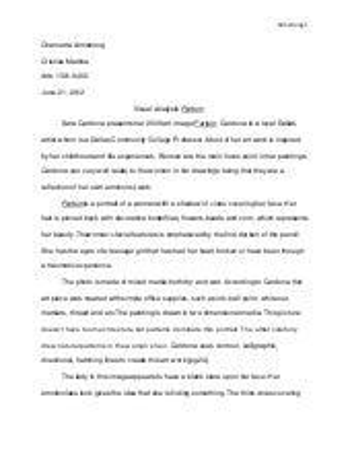 Writing a visual analysis essay