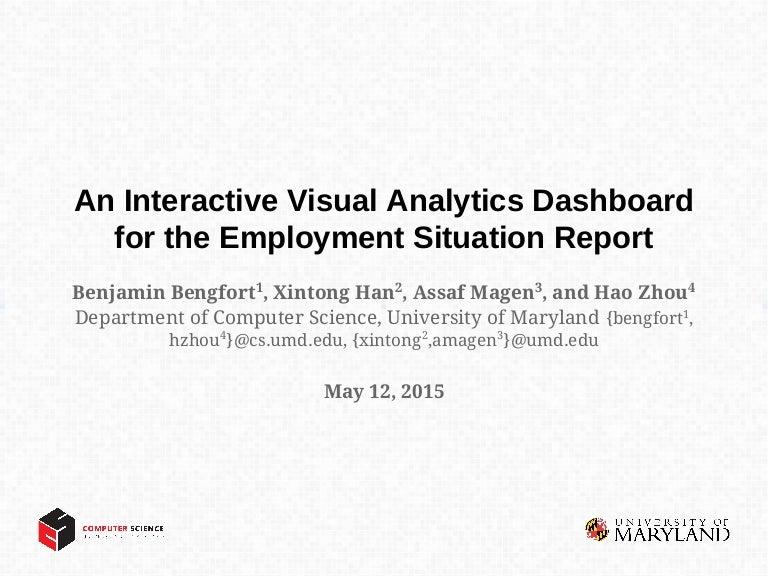 An Interactive Visual Analytics Dashboard For The Employment Situatio