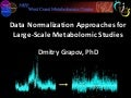 Normalization of Large-Scale Metabolomic Studies 2014