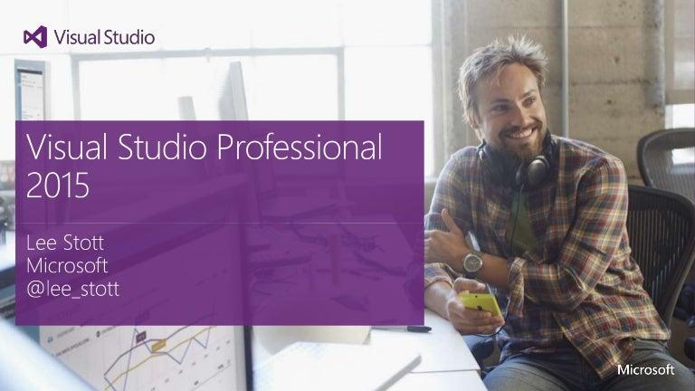 Visual studio professional 2015 overview