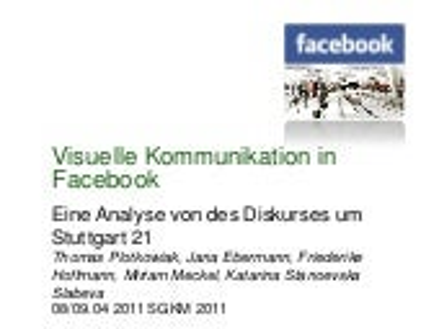 Visuelle Kommunikation in Facebook