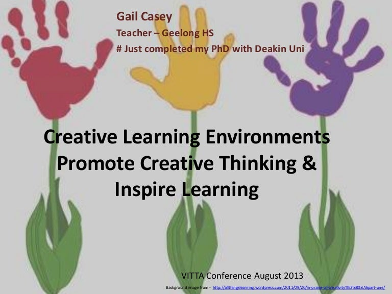 promote creativity and creative learning