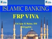 Final Research Project Synopsis ppt for viva : Islamic Banking in India