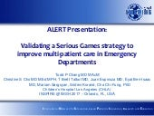 Validating a serious games strategy to improve multi-patient care in emergency departments