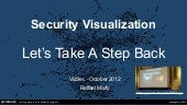 Security Visualization - Let's Take A Step Back