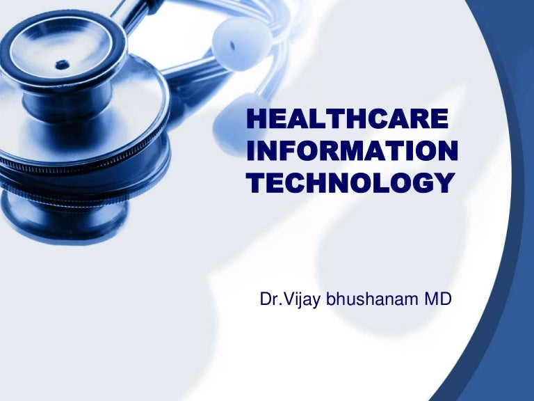 health information powerpoint template  Healthcare information technology