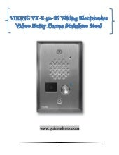 VK-E-50-SS viking electronics video entry phone stainless steel