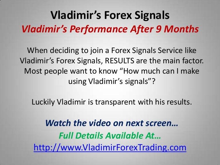 Vladimir's forex signals service