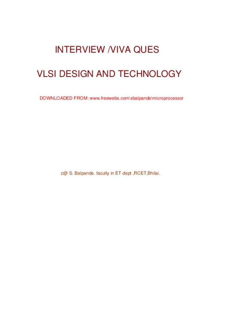 vlsi interview questions