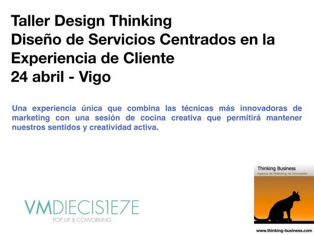 Vm17 innovación centrada usuario. Design Thinking.