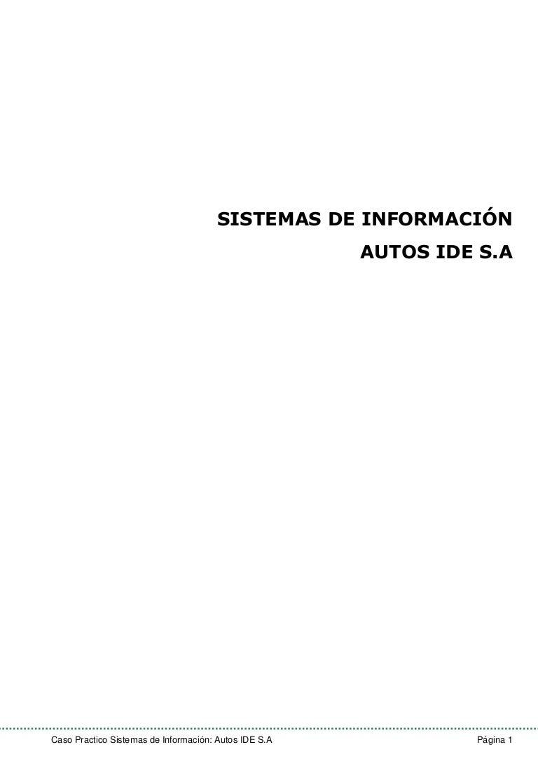 Analisis Cadena de valor - Autos IDE S.A