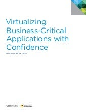 V mware white paper  virtualizing business-critical applications with confidence