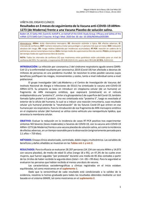 Vn eca 3m, vacuna covid 19 [ar nm-1273 moderna vs pl]