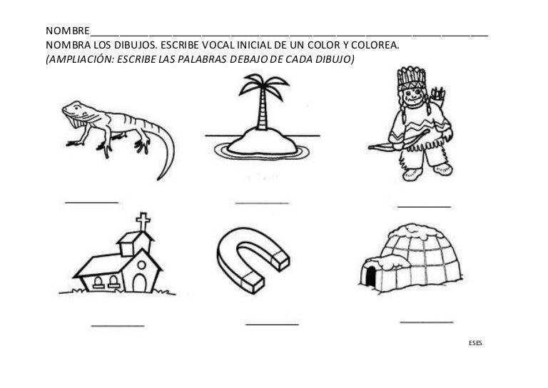 Dibujos Para Colorear Que Empiecen Con La Letra A: Vocales Y Palabras