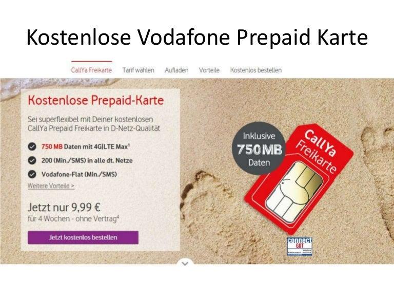 Vodafon callya aufladen