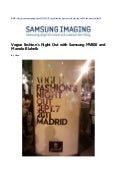 Vogue Fashion's Night Out with Samsung MV800 and Manolo Blahnik