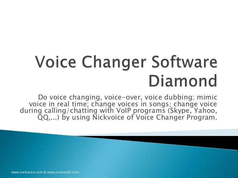 AV Voice Changer Software diamond 8 0 [Quick-tour]
