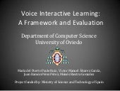 Voice interactive learning. A framework and evaluation @ ITiCSE 2013