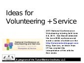Ideas for Volunteering and Service