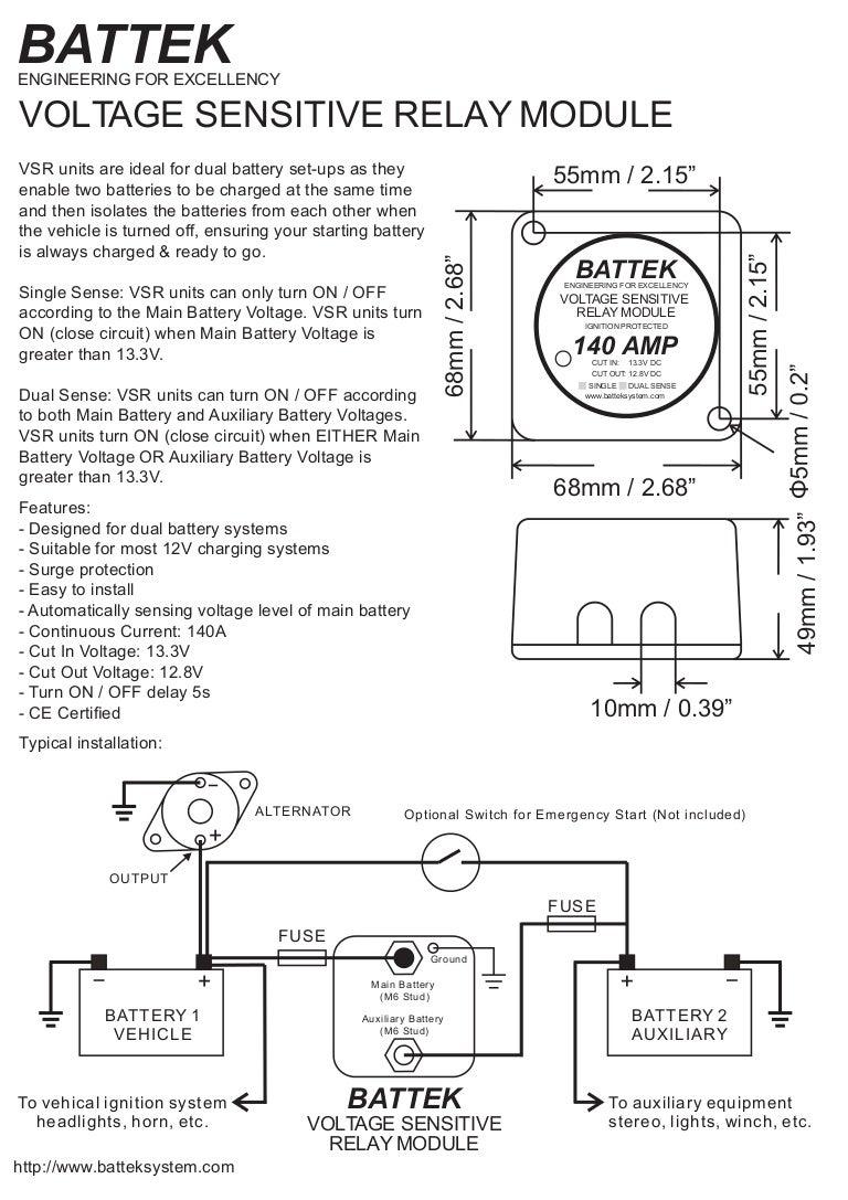 voltagesensitiverelay12v140aspecificationrc08aug2016 160818150208 thumbnail 4?cb=1471532602 battek voltage sensitive relay module datasheet voltage sensing relay wiring diagram at bayanpartner.co