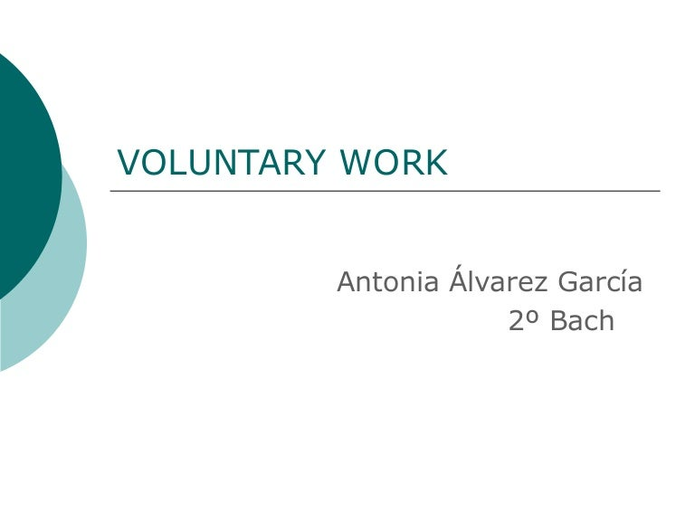 Voluntary Work Essay Isla Nuevodiario Co
