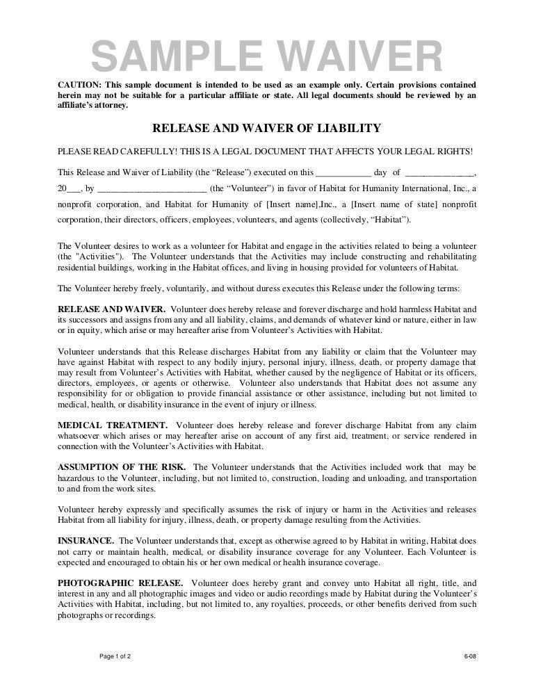 Release Of Liability Letter Stunning Liability Contract Template