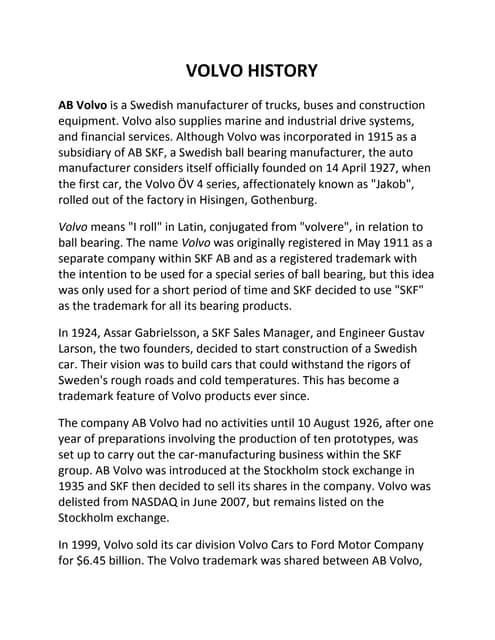 Village Volvo | Case Study Solution | Case Study Analysis