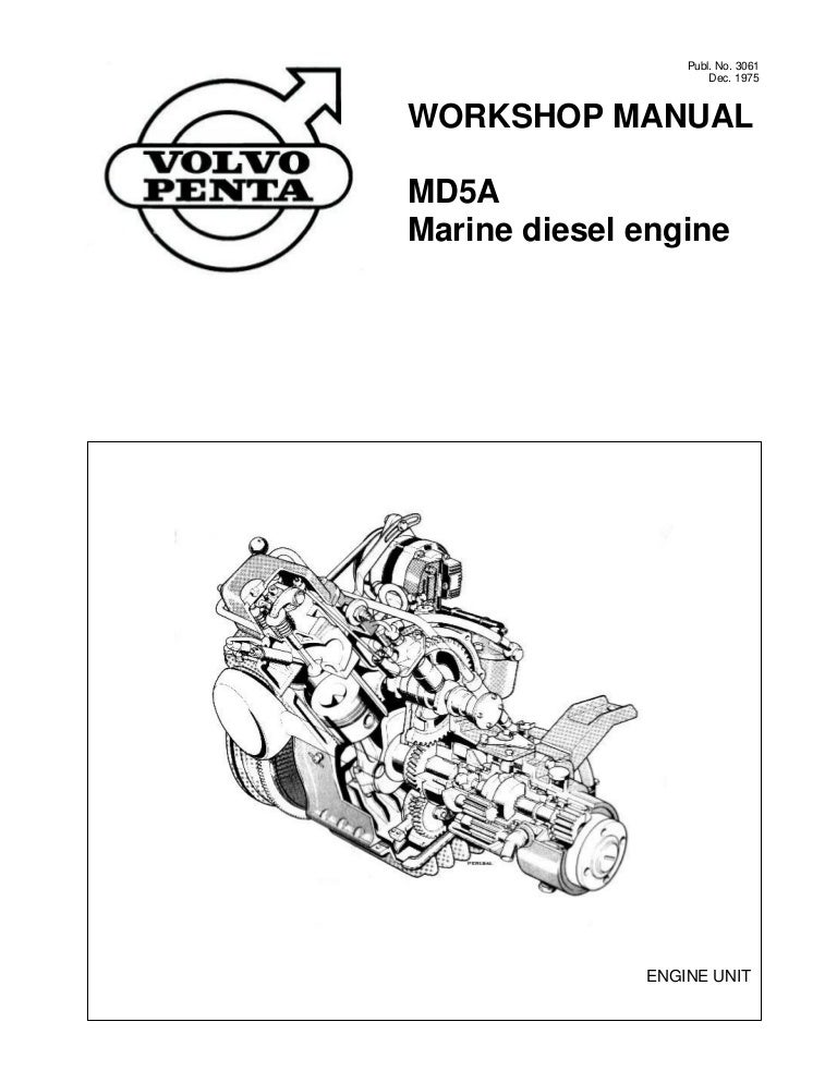 volvo penta md5a diesel marine engine workshop manual rh slideshare net