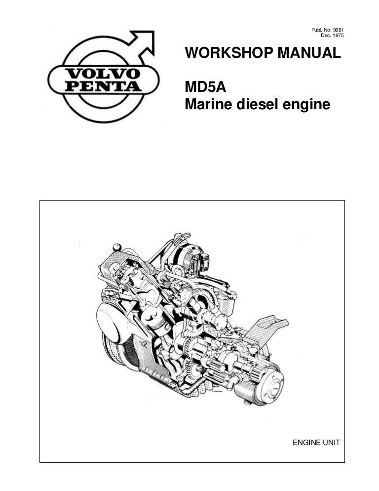 volvo penta md5a diesel marine engine workshop manual rh slideshare net