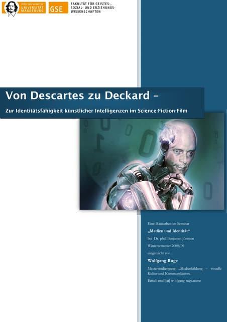 Von Descartes Zu Deckard Webversion