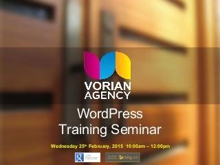Vorian Agency WordPress Seminar 2015