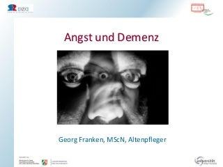 Angst und Demenz: Vortrag von Georg Franken