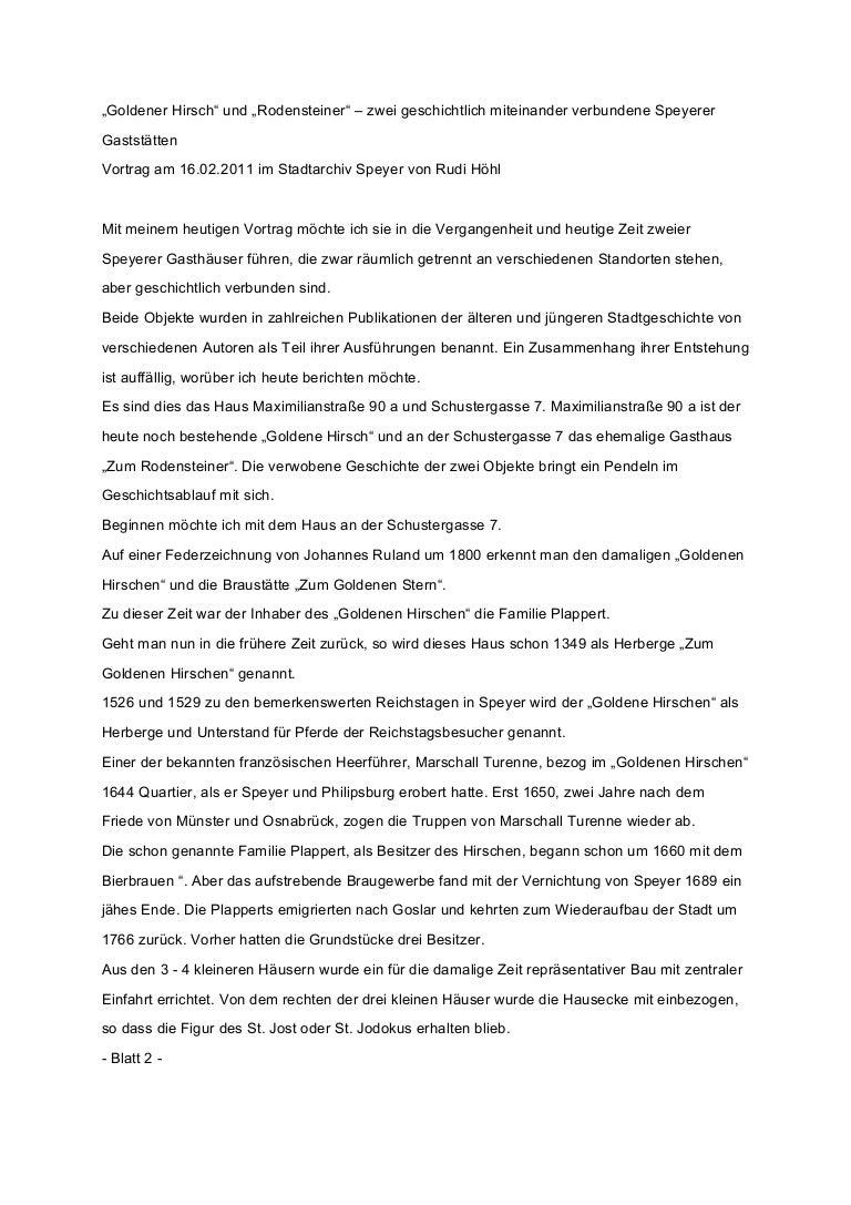 Vortrag Text Goldener Hirsch Und Rodensteiner 1622011