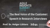The real voice of the customer: Speech in research interviews