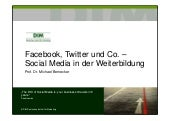 Prof. Dr. Bernecker - Vortrag Social Media Marketing für Weiterbildner