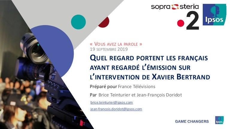 Vous Avez La Parole Du 19 Septembre 2019 Xavier Bertrand