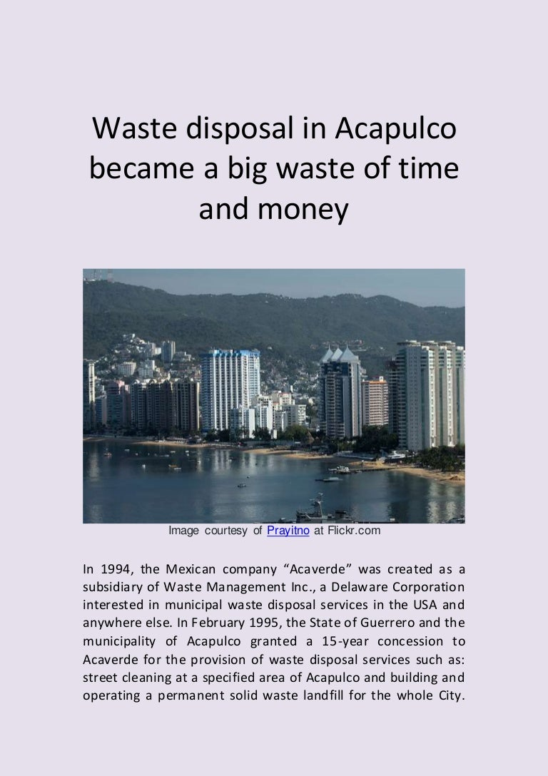 waste disposal in acapulco became a big waste of time and money