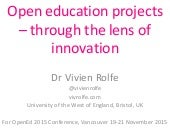 V Rolfe - open education and innovation