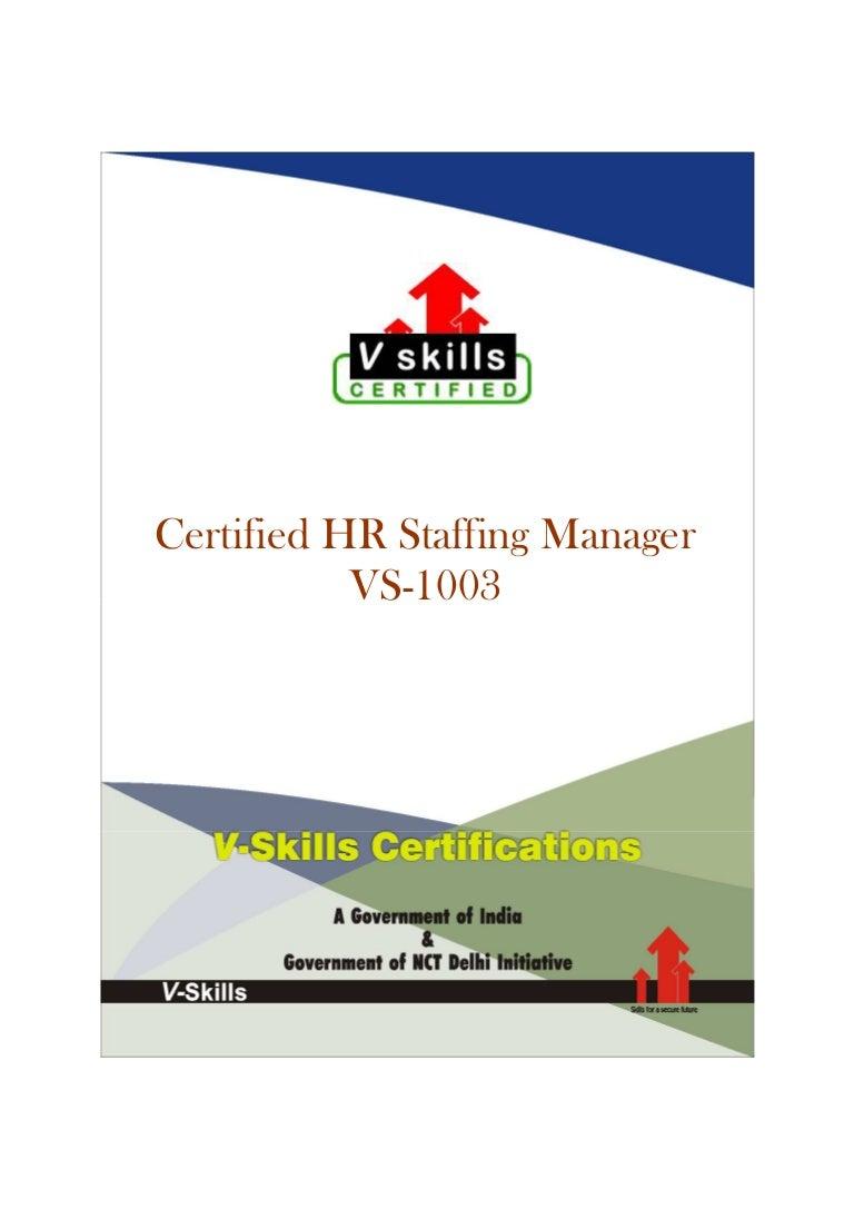 Hr staffing certification xflitez Gallery