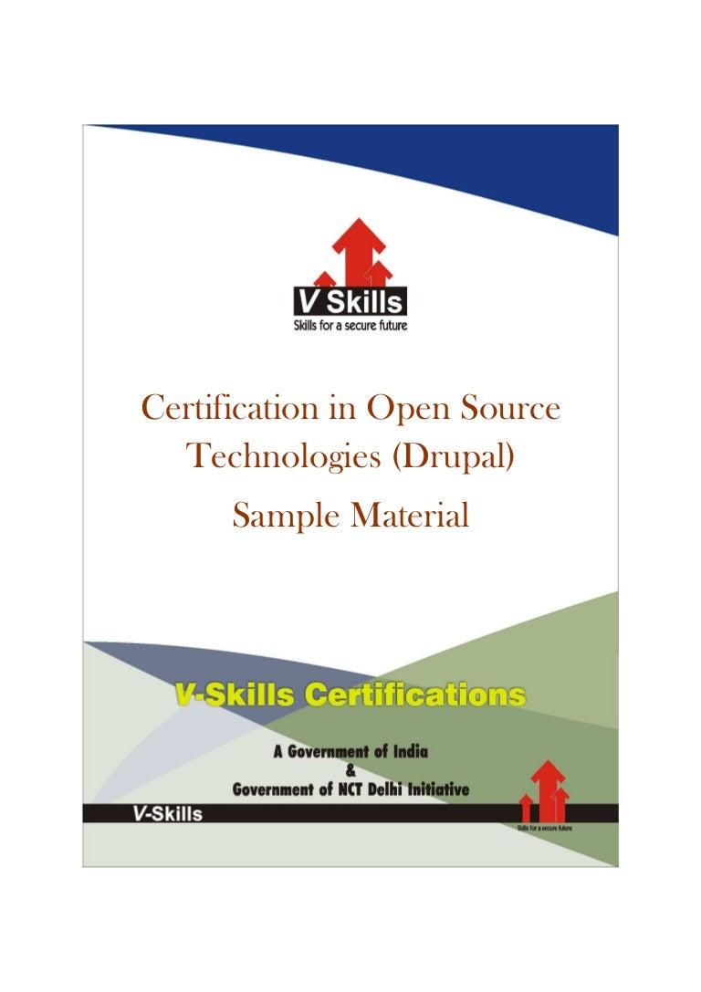 Vskills certified open source cms drupal professional sample material xflitez Gallery