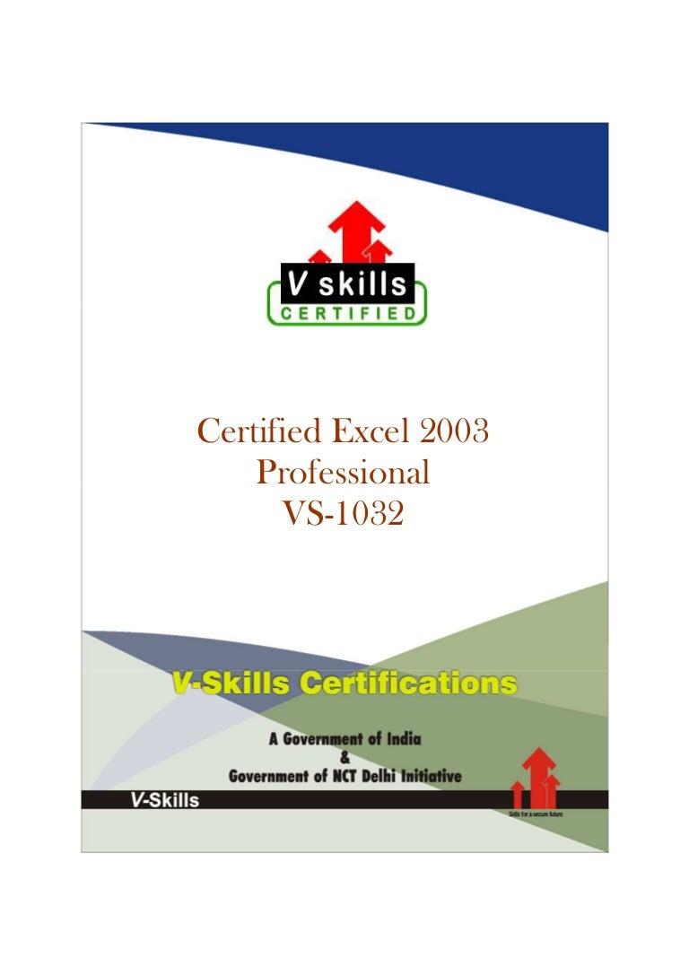 excel certification certified
