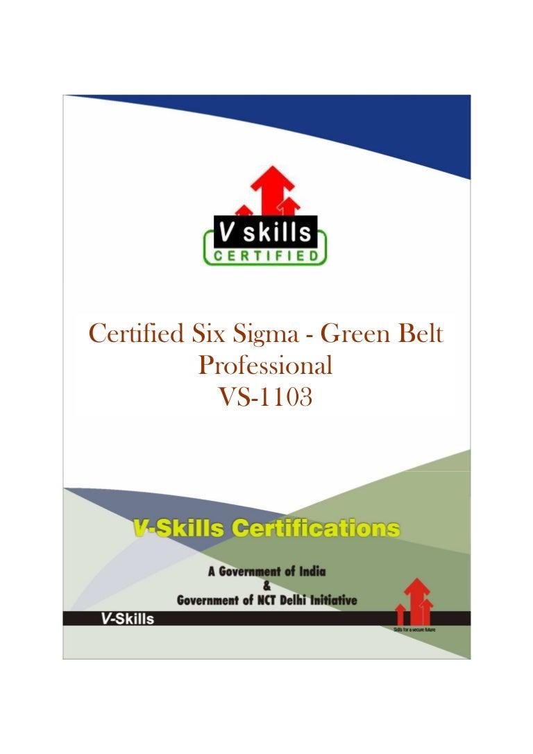 Six sigma green belt certification xflitez Choice Image