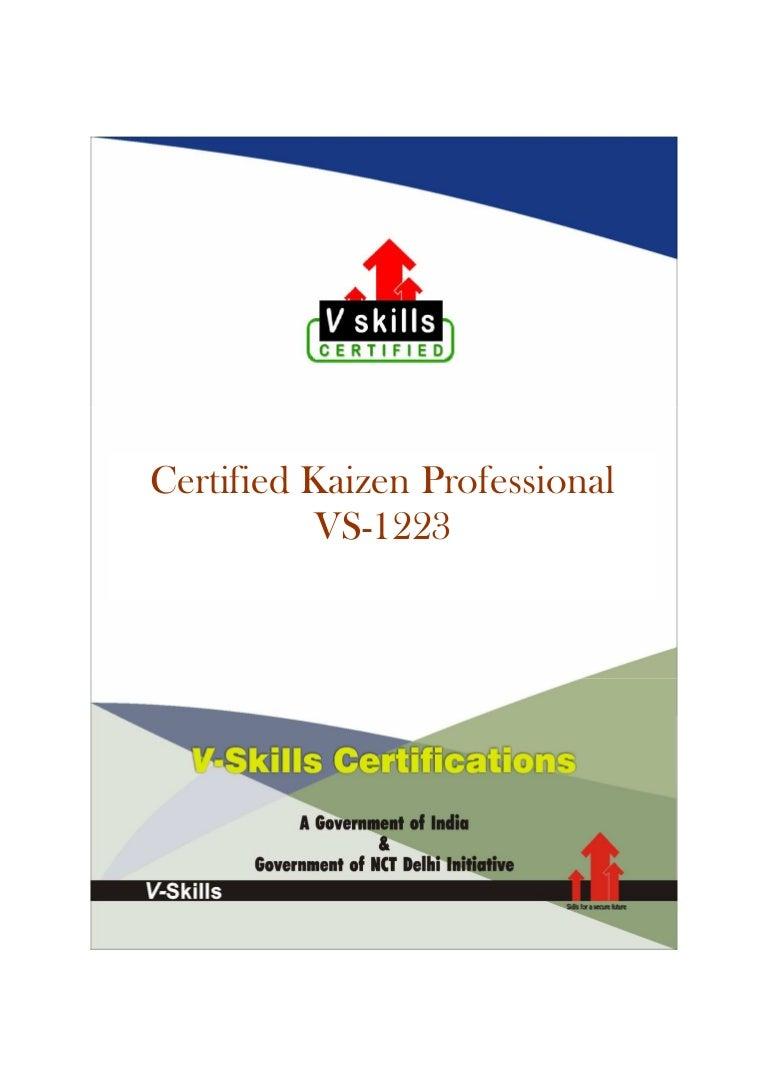 Kaizen certification 1betcityfo Gallery